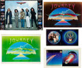 Music Memorabilia:Posters, Journey - Group of Posters and Album Proofs (1980/81).... (Total: 6Items)