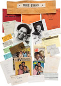 "Movie/TV Memorabilia:Documents, A Mike Evans [""Lionel Jefferson""] Huge Archive ofTelevision-Related Documents and Other Materials, 1970s-1990s....(Total: 2 Items)"