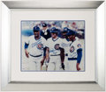 Autographs:Photos, Chicago Cubs Greats Multi-Signed Oversized Photograph - Banks,Dawson, Sandberg & Williams....