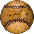 Baseball Collectibles:Balls, 1928 St. Louis Cardinals Team Signed Baseball....