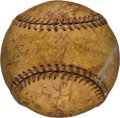 Baseball Collectibles:Balls, 1931 Pittsburgh Pirates vs. Chicago Cubs Teams Signed Baseball fromOpening Day with Paul & Lloyd Waner....