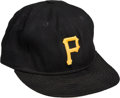 Baseball Collectibles:Hats, Circa 1990 Andy Van Slyke Signed Game Worn Pittsburgh PiratesCap....