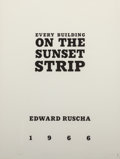 Fine Art - Work on Paper:Print, Ed Ruscha (b. 1937). Every Building on the Sunset Strip,1966. Artist's book. 7-1/8 x 5-5/8 inches (18.1 x 14.3 cm). Fro...