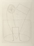 Fine Art - Work on Paper:Print, Jürgen Partenheimer (b. 1947). Untitled (Wheel of Law), 1984. Etching on BFK Rives paper. 23-3/8 x 17-1/2 inches (59.4 x...