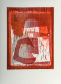 Fine Art - Work on Paper:Print, Charline von Heyl (b. 1960). Untitled, 2012. Woodcut in colors. 17 x 12-3/4 inches (43.2 x 32.4 cm) (image). 23 x 17 inc...