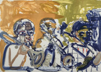Romare Howard Bearden (1911-1988) Brass Section (Jamming at Minton's), 1979 Lithograph in colors