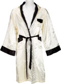 Boxing Collectibles:Memorabilia, 1978 Muhammad Ali Worn Commercial Shoot Robe with Provenance from Photographer. ...