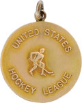 Hockey Collectibles:Others, 1948 United States Hockey League MVP Medal Presented to Clint Smith ....