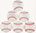 Autographs:Baseballs, Baseball Greats Single Signed Baseballs Lot of 6. ...