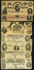 Confederate Notes:Group Lots, Seven Confederate Notes.. ... (Total: 7 )