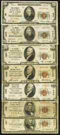National Bank Notes:ZZZ, Group of Seven Small Size Nationals. . ... (Total: 7 notes)