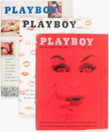 Magazines:Miscellaneous, Playboy 1959-61 Complete Years Group of 36 (HMH Publishing, 1959-61) Condition: Average VG/FN.... (Total: 36 Items)