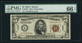 Small Size:World War II Emergency Notes, Fr. 2302 $5 1934A Hawaii Federal Reserve Note. PMG Gem Uncirculated 66 EPQ.. ...