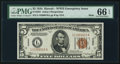Small Size:World War II Emergency Notes, Fr. 2301 $5 1934 Mule Hawaii Federal Reserve Note. PMG Gem Uncirculated 66 EPQ.. ...