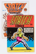 Silver Age (1956-1969):Alternative/Underground, Snatch Comics #1 and 2 Group (Apex Novelties, 1968-69) Condition:Average VG/FN.... (Total: 2 Comic Books)