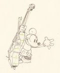 Animation Art:Production Drawing, Mickey's Good Deed Mickey Mouse and Pluto Animation DrawingGroup of 2 (Walt Disney, 1932).. ... (Total: 2 Original Art)