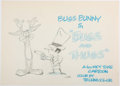 Animation Art:Concept Art, Bugs and Thugs Theatrical Title Card Concept Sketch byWillie Ito (Warner Brothers, 1954).... (Total: 2 )