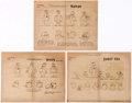animation art:Model Sheet, Popeye Studio Model Sheet Print Group of 6 (Paramount, 1960)....(Total: 6 )