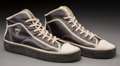 "Decorative Arts, Continental:Other , A Pair of Guess Production Department Sneakers for Basketball Hallof Famer Julius ""Dr. J"" Erving. 6-7/8 h x 4-1/4 w x 13-1/..."