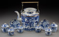 Asian:Chinese, A Nine-Piece Chinese Porcelain Tea Service. Marks: (four charactermark). 10-3/8 inches high (26.4 cm) (teapot, including ha...(Total: 9 Items)