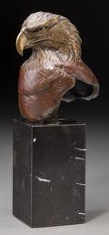 Fine Art - Sculpture, American:Contemporary (1950 to present), Kent Ullberg (American, b. 1945). Eagle, 1982. Bronze withbrown patina. 5-1/2 inches (14.0 cm) high on a 5 inches (12.7...