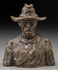 Fine Art - Sculpture, American:Contemporary (1950 to present), Joe Ruiz Grandee (American, b. 1929). U.S. Calvary Officer,1969. Bronze with brown patina. 6 inches (15.2 cm) high. Ed....