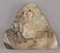 Asian:Chinese, A Chinese Carved Jade Scholar's Rock. 2-1/4 inches high x 2-1/2inches wide (5.7 x 6.4 cm). ...