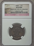 Half Cents: , 1804 1/2 C Crosslet 4, No Stems VF25 NGC. Ex: Stack's W 57th Collection. PCGS Population: (6/17). Minta...