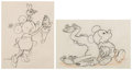Animation Art:Production Drawing, Mickey's Pal Pluto Minnie Mouse and Pluto Animation Drawings Group of 2 (Walt Disney, 1933).... (Total: 2 )
