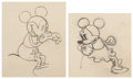 Animation Art:Production Drawing, Puppy Love Mickey Mouse and Minnie Mouse Animation DrawingsGroup of 2 (Walt Disney, 1933).... (Total: 2 )