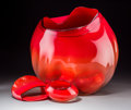 Art Glass:Other , A Large Five-Piece Dale Chihuly Studio Glass Basket Group,circa 1993. Marks to one: Chihuly, 93. 19-3/4 inc... (Total:5 Items)