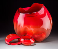 A Large Five-Piece Dale Chihuly Studio Glass Basket Group, circa 1993 Marks to on