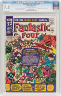 Silver Age (1956-1969):Superhero, Fantastic Four Annual #3 (Marvel, 1965) CGC VF- 7.5 Off-white to white pages....