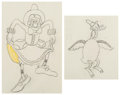 Animation Art:Production Drawing, Mother Goose Melodies Animation Drawing (Walt Disney, 1931).... (Total: 2 )