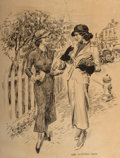 Mainstream Illustration, James Montgomery Flagg (American, 1877-1960). The UnexpectedNews. Lithograph on board. 29 x 22 in. (image). Signed in p...