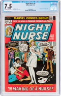 Bronze Age (1970-1979):Romance, Night Nurse #1 (Marvel, 1972) CGC VF- 7.5 Off-white to whitepages....