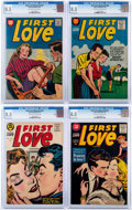 Golden Age (1938-1955):Romance, First Love Illustrated #53 and 60-62 CGC-Graded File Copies Group(Harvey, 1955-56) CGC VF+ 8.5.... (Total: 4 Comic Books)