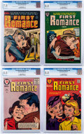 Golden Age (1938-1955):Romance, First Romance Magazine CGC-Graded File Copies Group of 4 (Harvey,1953-57).... (Total: 4 Comic Books)