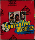 """Olympic Cards:General, 1981 Topps English League """"Footballer"""" Soccer Box with 48 Packs...."""