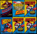 Hockey Cards:Unopened Packs/Display Boxes, 1976, 1978 & 1980 Topps Hockey Wax Packs (6). . ...