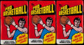 Basketball Cards:Unopened Packs/Display Boxes, 1976 Topps Basketball Wax Pack Trio (3). ...