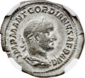 Ancients:Roman Imperial, Ancients: Gordian II Africanus (AD 238). AR denarius (20mm, 2.90 gm, 6h). NGC XF 4/5 - 4/5....