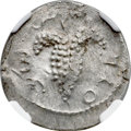 Ancients:Judaea, Ancients: JUDAEA. Bar Kokhba Revolt (AD 132-135). AR zuz (18mm,3.04 gm, 7h). NGC MS 4/5 - 4/5....
