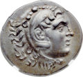 Ancients:Greek, Ancients: PAMPHYLIA. Perga. Ca. 221-188 BC. AR tetradrachm (33mm,16.50 gm, 12h). NGC AU ★ 5/5 - 5/5....