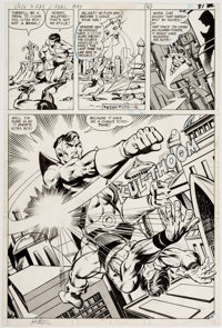 Jim Starlin and Joe Rubinstein (as Josef Rubinstein) Superboy and the Legion of Super-Heroes #239 Story Page 25 Or