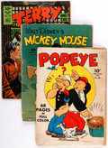 Golden Age (1938-1955):Cartoon Character, Four Color Cartoon-Related Group of 12 (Dell, 1943-49) Condition:Average GD.... (Total: 12 Comic Books)