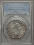 Early Half Dollars, 1803 50C -- Repaired -- PCGS Genuine. VF Details. NGC Census:(18/192). PCGS Population: (51/394). CDN: $650 Whsle. Bid for...