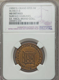 (1850s) MS Daniel Ball & Co. Token, Grand Rapids, MI, M-Mich-8 -- Surface Hairlines -- NGC Details. AU. Brass, 28 mm...