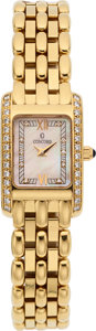 Estate Jewelry:Watches, Concord Lady's Diamond, Gold Veneto Watch. ...