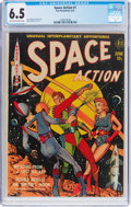 Golden Age (1938-1955):Science Fiction, Space Action #1 (Ace, 1952) CGC FN+ 6.5 Off-white to whitepages....
